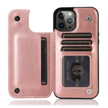 Luxury Wallet Phone Case for iPhone 12Pro 11 XR 7Plus Leather Flip Cover for Samsung Note20 S20 Huawei P40 Mate30