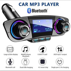Mp3-Player-Kit Car-Charger Fm-Transmitter Gagets Bluetooth Wireless Modulator Handsfree