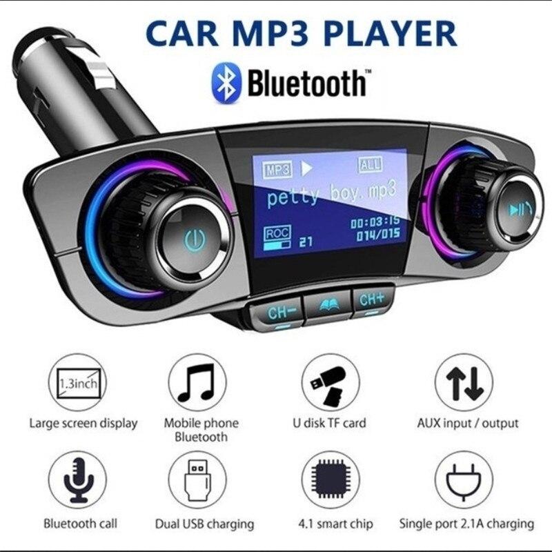 Автомобильный аудио MP3 плеер комплект громкой связи беспроводной Bluetooth FM передатчик ЖК Aux модулятор умный заряд двойной USB Автомобильное зар...