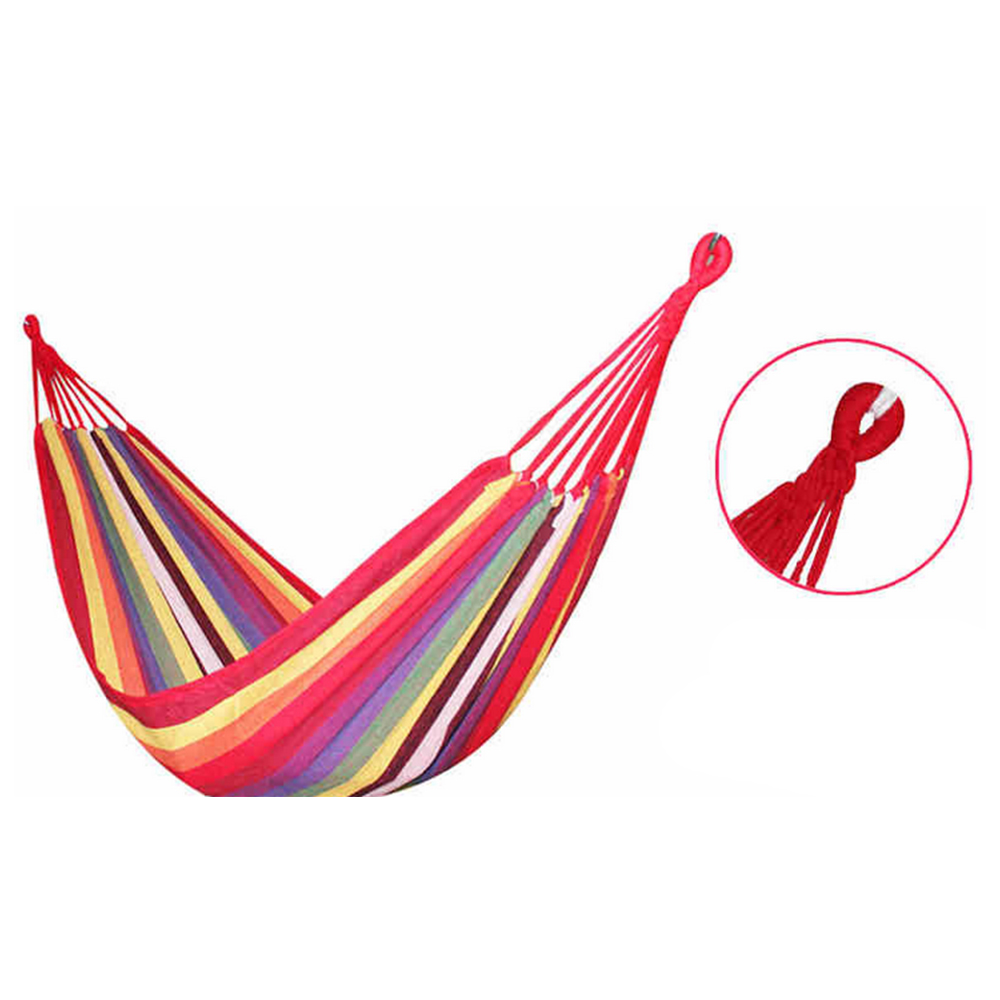 Outdoor Camping Single Double Anti Roll Stick Student Dormitory Canvas Swing Hammock