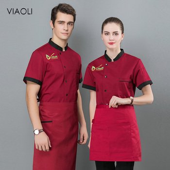 New high quality Chef Jackets single breasted embroidery chef uniforms restaurant catering bakery Waiter cooker clothes 3 colors