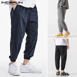 INCERUN New Fashion Men Harem Pants Joggers Casual Solid Color Cargo Pants Streetwear Pockets 2020 Loose Trousers Men S-5XL 7