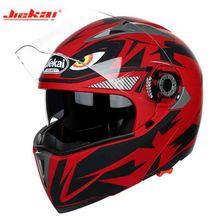 2019 New arrive Eagle eye red Motorcycle Knight safety helmet JIEKAI Flip up Motorcycle Helmets Double lens Motorbike helmet