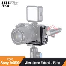 UURig R028 שחרור מהיר צלחת סוגר L Sony A6600 מיקרופון להאריך חצובה בעל Dual Arca שוויצרי