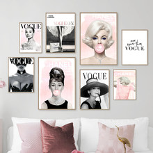 Paris Fashion Lady Model Girl Wall Art Canvas Painting Nordic Posters And Prints Wall Pictures For Living Room Salon Home Decor