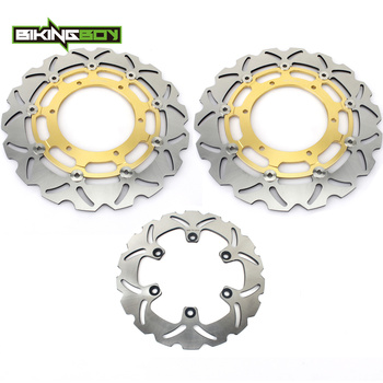 BIKINGBOY For YAMAHA YZF R7 1999 2000 2001 99 00 01 OW02 Round / Wavy Full Sets Front Rear Brake Discs Disks Rotors