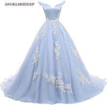 ANGELSBRIDEP Off-Shoulder suknia Quinceanera sukienki na 15 Party Fashion aplikacja Organza Sweet 16 księżniczka suknie urodzinowe