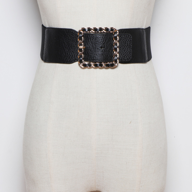 New Fashion Trendy Design 2020 Spring Corset Belt For Women Solid Metal Square Buckle Wide Belt Female Casual Waistband ZK162