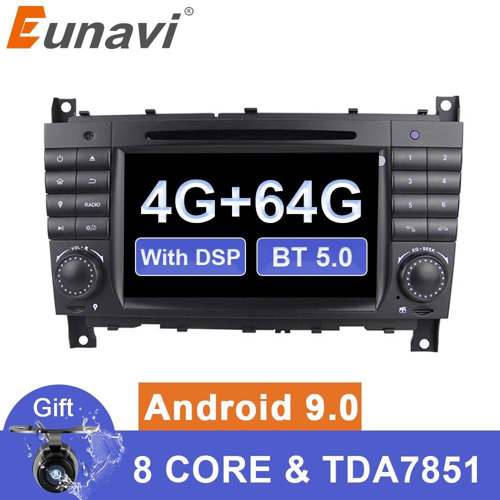 Eunavi 2 din Android 9 Auto multimedia Dvd GPS Radio Für Mercedes/Benz W203 W209 W219 W169 A160 C180 c200 C230 C240 CLK200 CLK22