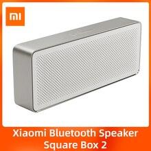 Оригинальная Bluetooth-Колонка Xiaomi Mi Square Box 2, портативная беспроводная стереоколонка Bluetooth 4,2, HD, высокое разрешение, качественное воспроизведен...