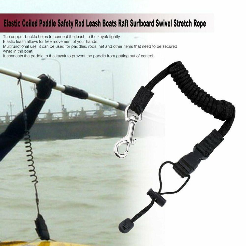 Elastic Kayak Canoe Paddle Leash Surfboard Surfing Kayak Rowing Leash Fishing Rod Leash Rope Lanyard Accessories Boats Safe S4V5