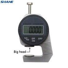 Shahe портативный мини Точный Цифровой толщиномер метр тестер толщина микрометра большая головка 0-12,7 мм