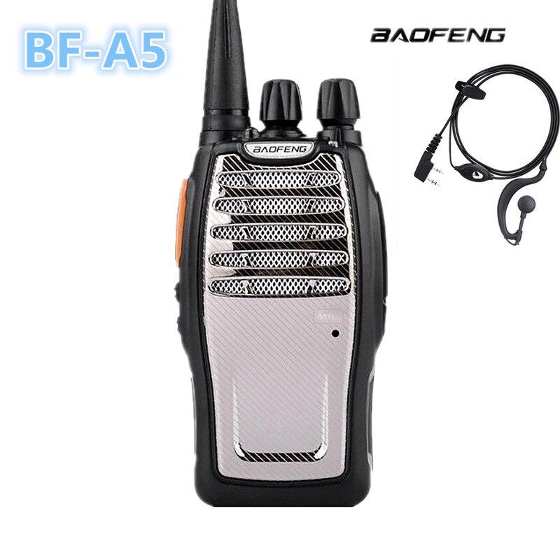 100% Original Baofeng Cheap Portable BF-A5 UHF 400-470MHz Walkie Talkie K5 3-5KM Talk Range PMR Transceiver