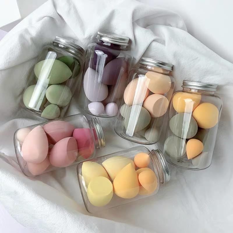 7 PCS Makeup Sponges Beauty Egg Makeup Puff Wet Dry Dual Use Makeup Tool Set Cosmetic Puff For Foundation Concealer