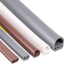 6 Meter/partij E/D/I Type Siliconen Rubber Afdichting Strip Voor Deur/Raam Geluid Isolerende Strip Zelf Plakband