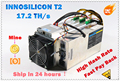 Used INNOSILICON T2 17.2TH/s With PSU Asic BTC BCH Bitcion Miner Better Than Whatsminer M3X M20S Antminer S9 T17 S17 S17e S17+