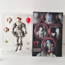 18cm 7 pulgadas NECA IT de Stephen King Pennywise Joker Horror PVC acción figura coleccionable juguete muñeca Horror Halloween regalo(China)