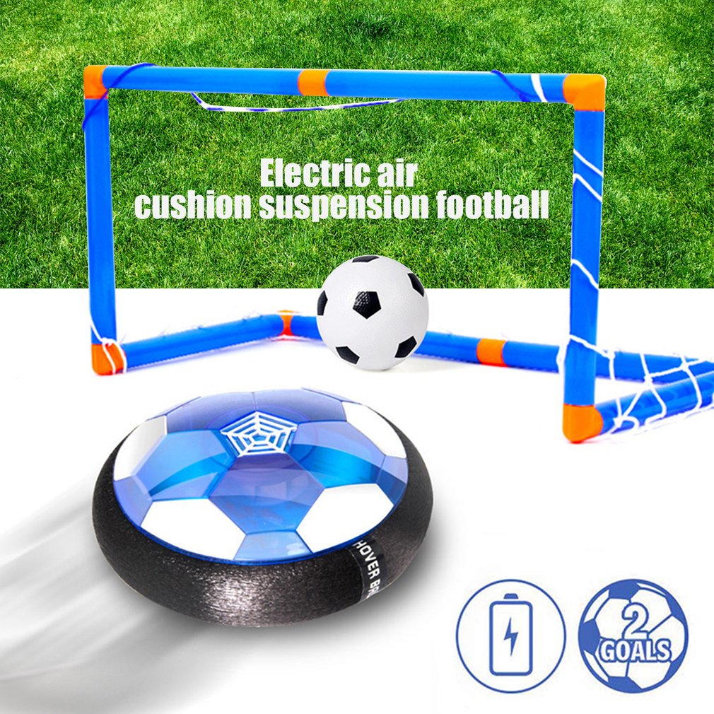 New Hot LED Light Flashing Air Power Soccer Ball Disc Indoor Suspended Football Hovering Gliding Toys Collision Sports Toy