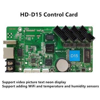 HD-D15 WIFI Asynchronous Full Color Control Card HD D15 640*64 4*HUB75E Use For P2 P2.5 P3 P4 P5 P6 P8 P10 LED Module Display