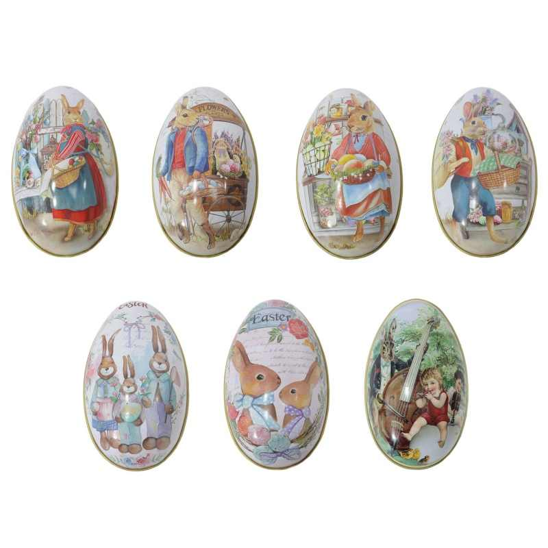 Large Easter Day Sunday Eggs Can Open Eggshell Iron Rabbit Egg Party Decoration Arts Crafts Birthday Kids Gifts Toys