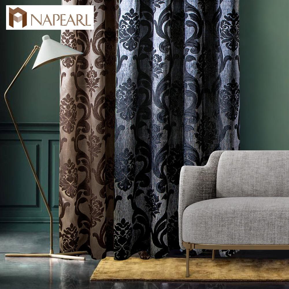 1 шт., занавески для окна, гостиной, жаккардовые ткани, роскошные полузатемненные шторы, панель, черная занавеска для гостиной|room curtains|black white curtain|white curtains - AliExpress