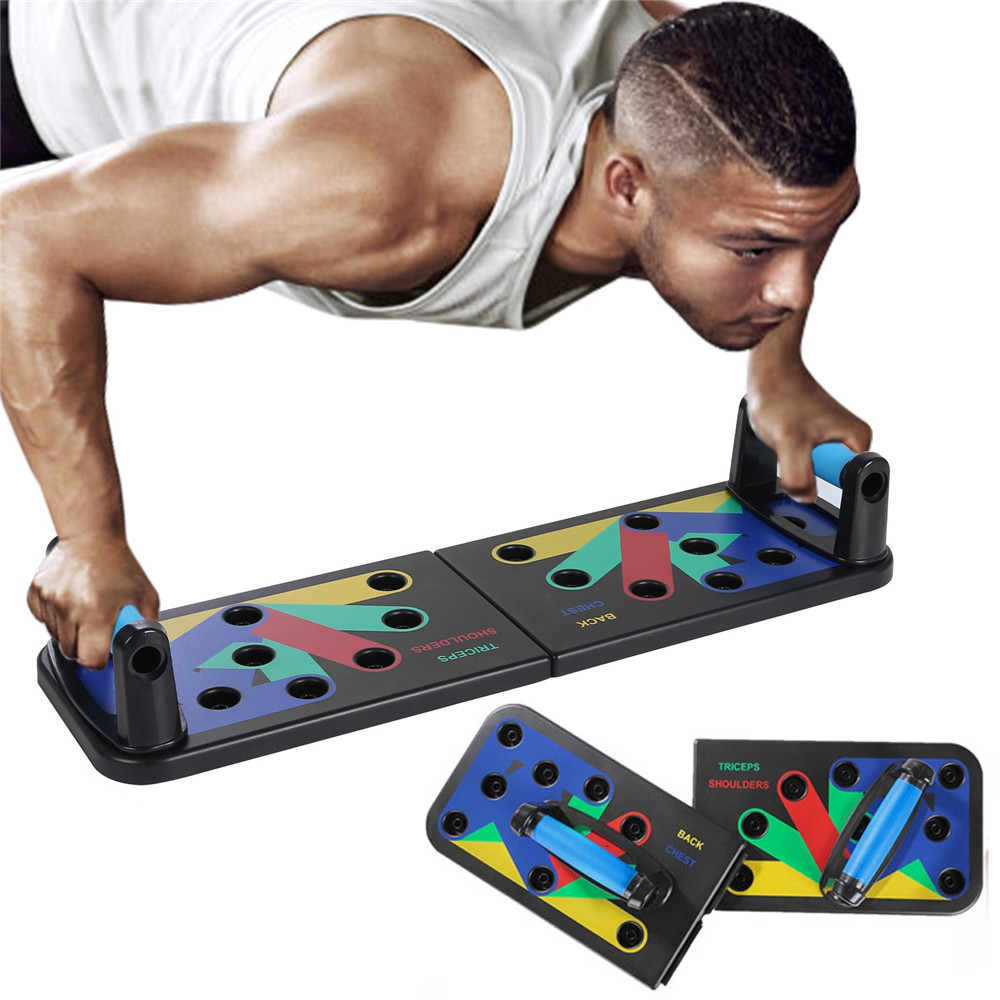 Push up Board 12 in 1 Fitness Equipment for Home Muscle Body Abdominales Exercise Fodable Adjustable Push-up Stands Workout Gym