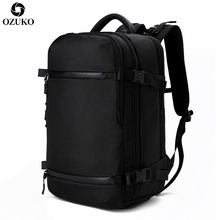 OZUKO Men's Backpack USB 17.3Inch Laptop Backpack School bag Large Capacity Travel Backpack Multi-functional Casual Male Mochila