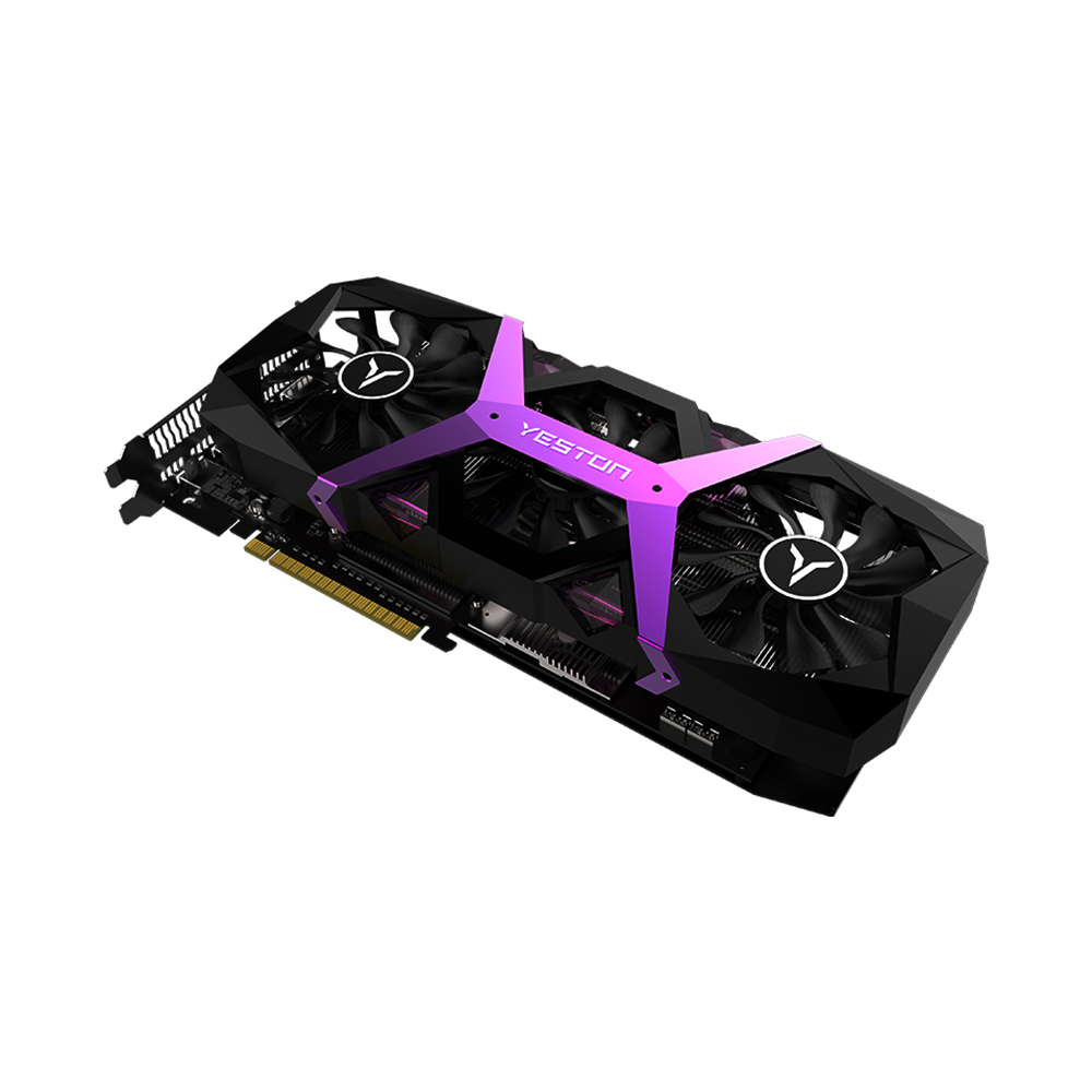 Image 2 - Yeston Radeon RX580 8GB GDDR5 256bit PCI Express x16 3.0 video gaming graphics card external graphics card for desktopGraphics Cards   -