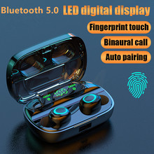 Touch Bluetooth Earphone V5.0 Wireless Noise Cancelling Headset HD Call TWS LED