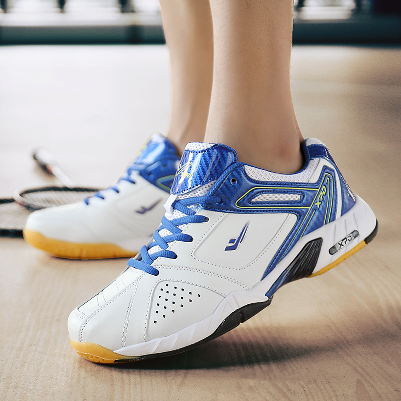Badminton-Shoes Sneakers Professional Indoor-Court Women Brand For New Blue Couples
