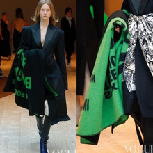 Autumn and Winter 2019 European American ins net red forgive green letter wool lady's shawl blanket winter Travel plane blanket