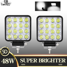 CO LIGHT Super Bright 4inch 48W Offroad LED Light Bar 5D Combo Beam 12V 24V for ATV UAZ SUV 4WD 4x4 Truck Tractor Work