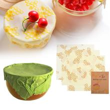цены Reusable Food Fresh Bag Beeswax Fresh Cloth Bees Wrap Palm Leaves Cheese Sandwich Cover Lid Bees Wax Wrap