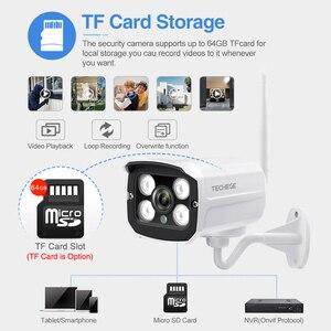 Image 3 - Techege hd 1080 720pワイヤレスipカメラcctvオーディオ2.0MP弾丸防犯カメラwifiナイトビジョン金属防水屋外カメラ