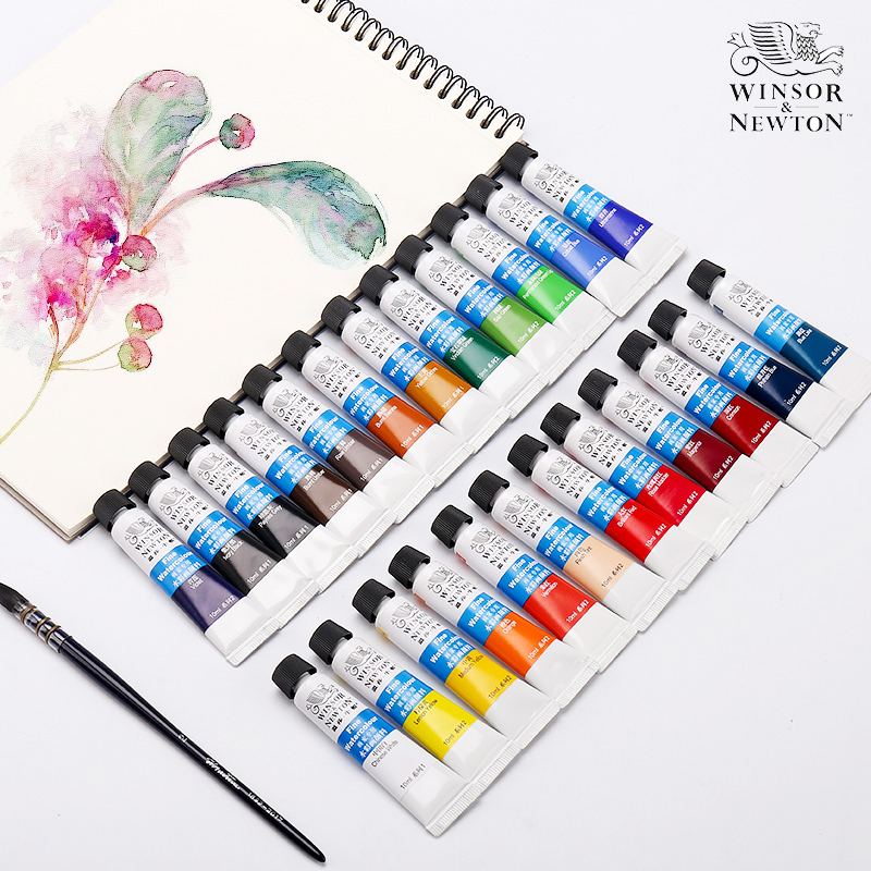 Winsor&Newton 12/18/24 Colors Professional Watercolor Paints High Quality Watercolor Painting Pigment For Artist Painting