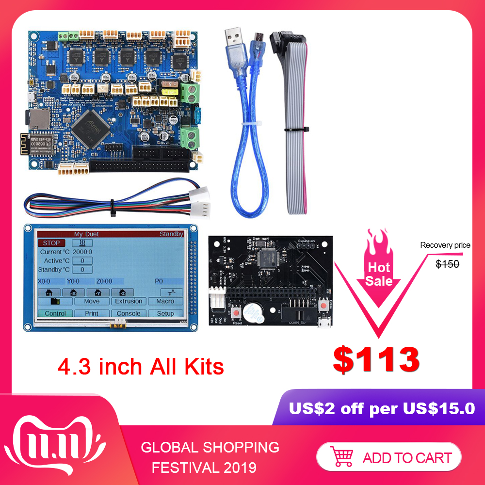 <font><b>Duet</b></font> 2 <font><b>Wifi</b></font> Control Board 32 Bit <font><b>Cloned</b></font> Duetwifi+4.3'' PanelDue Touch Screen Expansion Board CNC To SKR V1.3 3D Printer Parts image