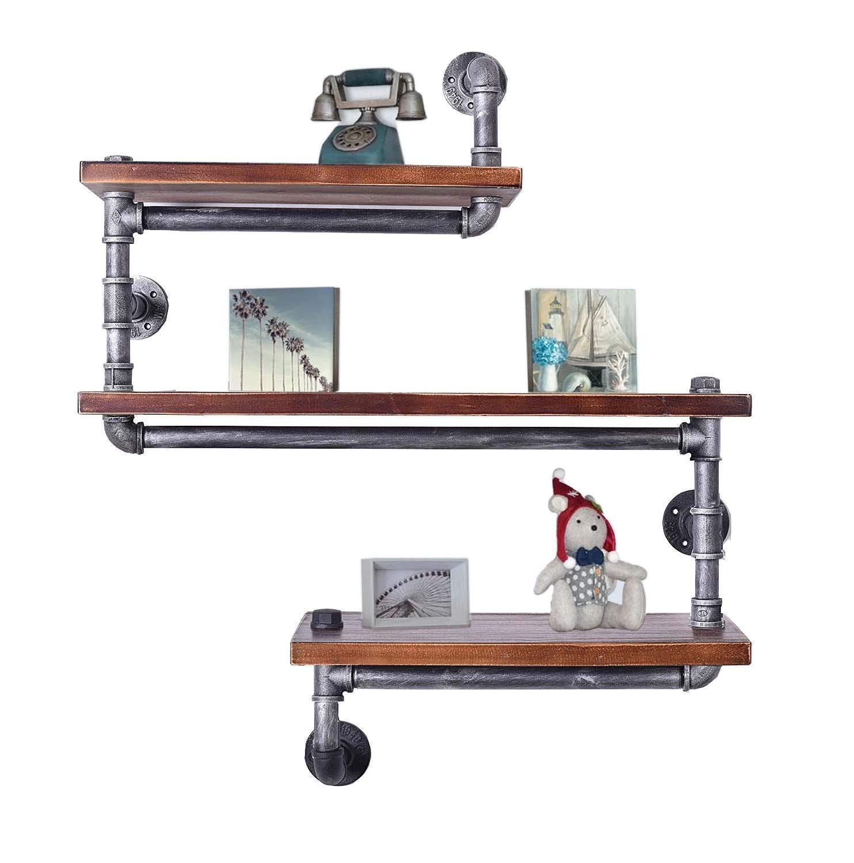 Us 84 0 20 Off Industrial Pipe Shelving Bookshelf Rustic Modern Wood Ladder Metal Wallshelf Diy 3 Tier Storage Bookcase Rack Floating Shelf On