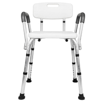 Aluminum Alloy Height Medical Transfer Bench Bathtub Chair Shower Seat Non slip Seat Plate Adjustable Bath Chair