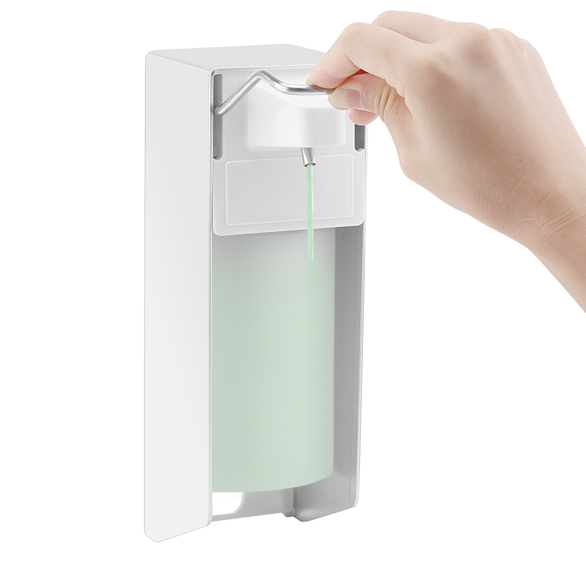 Wall Mount Liquid Soap Dispenser Pump Hospital Elbow Press Hand Sanitizer Soap Dispenser Bottle For Kitchen Wall-Mount Liquid Soap Dispenser Pump Hospital Elbow Press Hand Sanitizer Soap Dispenser Bottle For Kitchen Hotel Bathroom