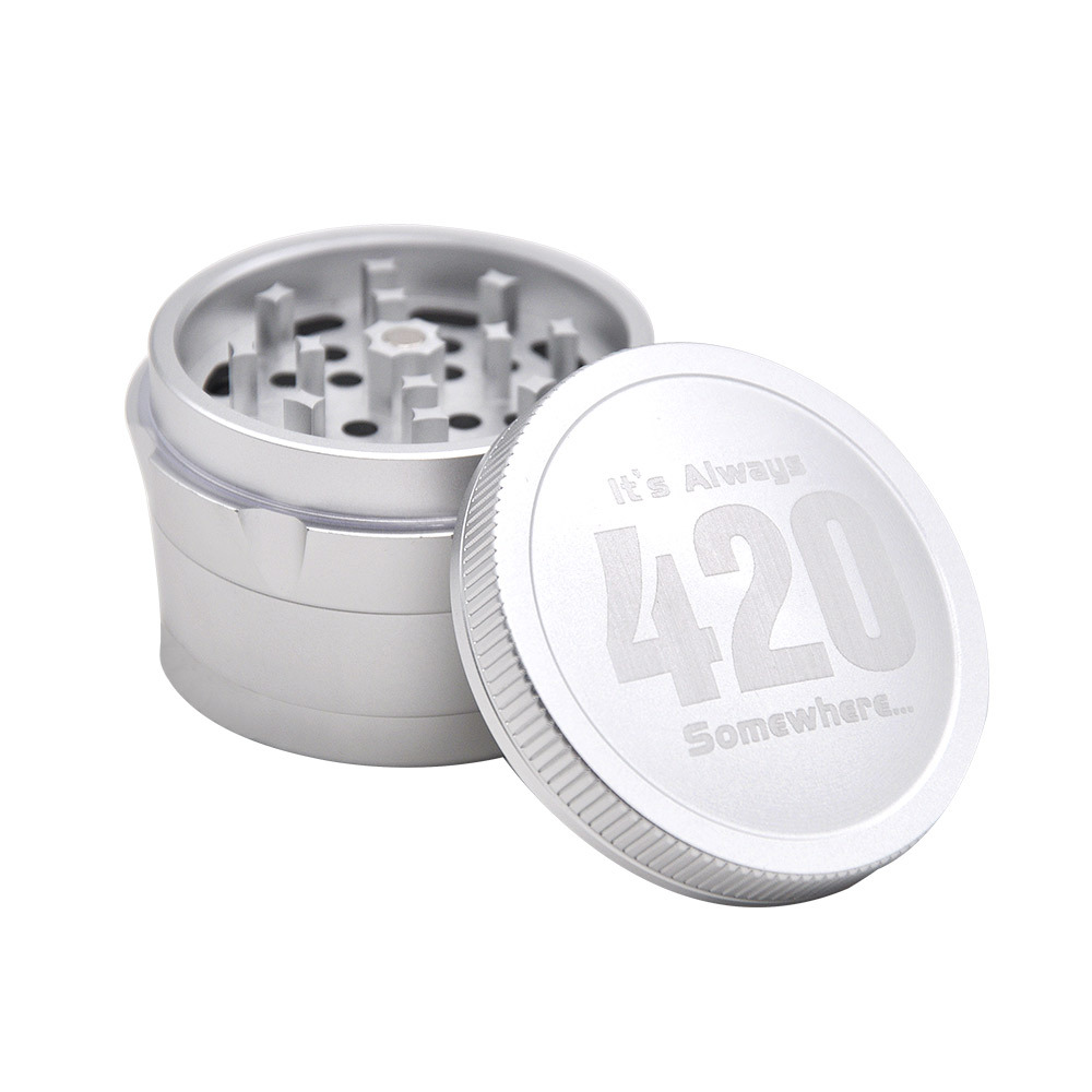 Aircraft Aluminum Herb Tobacco Grinder with Diamond Teeth 63 MM 4 Layers Herb Grinder Crusher Spice Grinder 2