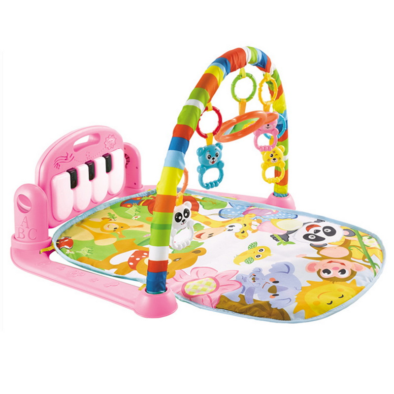 Baby Music Rack Play Mat Kid Puzzle Carpet Piano Keyboard Infants Develop Early Education Gym Crawling Game Pad Blanket