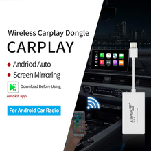 Carlinkit sem fio apple carplay ligação inteligente apple carplay dongle para android rádio do carro carplay android airplay/mirrorlink