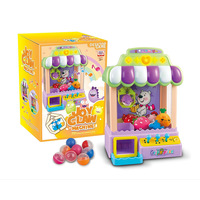 Children Electric Play House Small Mini MUSIC Catch Crane Machine Doll clipping Game Machine Coin Toy Taobao Thermal