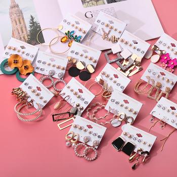 Tassel akrylowe kolczyki dla kobiet czeski kolczyki zestaw duże geometryczne spadek kolczyki 2020 kolczyki zestaw DIY biżuteria tanie i dobre opinie Ze stopu cynku TRENDY Moda e826 ROUND Metal Kobiety women earrings set bohemia shell earrings 2020 high fashion jewelry