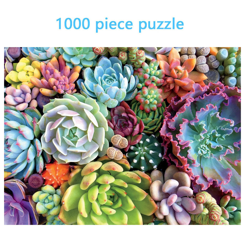 Puzzle 1000 Piece Succulent Plants Adult Puzzle For Children Holiday Gift Pattern Kids Educational Toy Set игры 2020 Newest