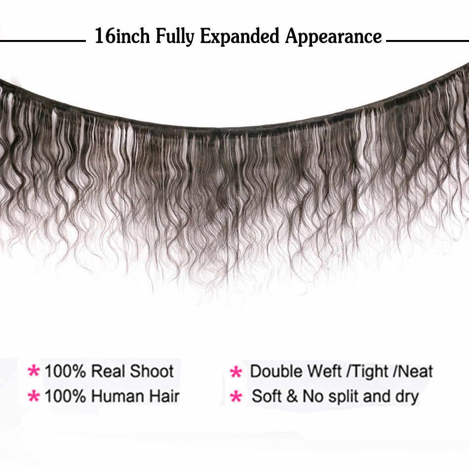 Halo bayan güzellik 1 3 4 adet 32 34 36 38 40 42 44 46 48 50 60 inç brezilyalı vücut dalga saç ekleme insan saçı örgüsü olmayan Remy