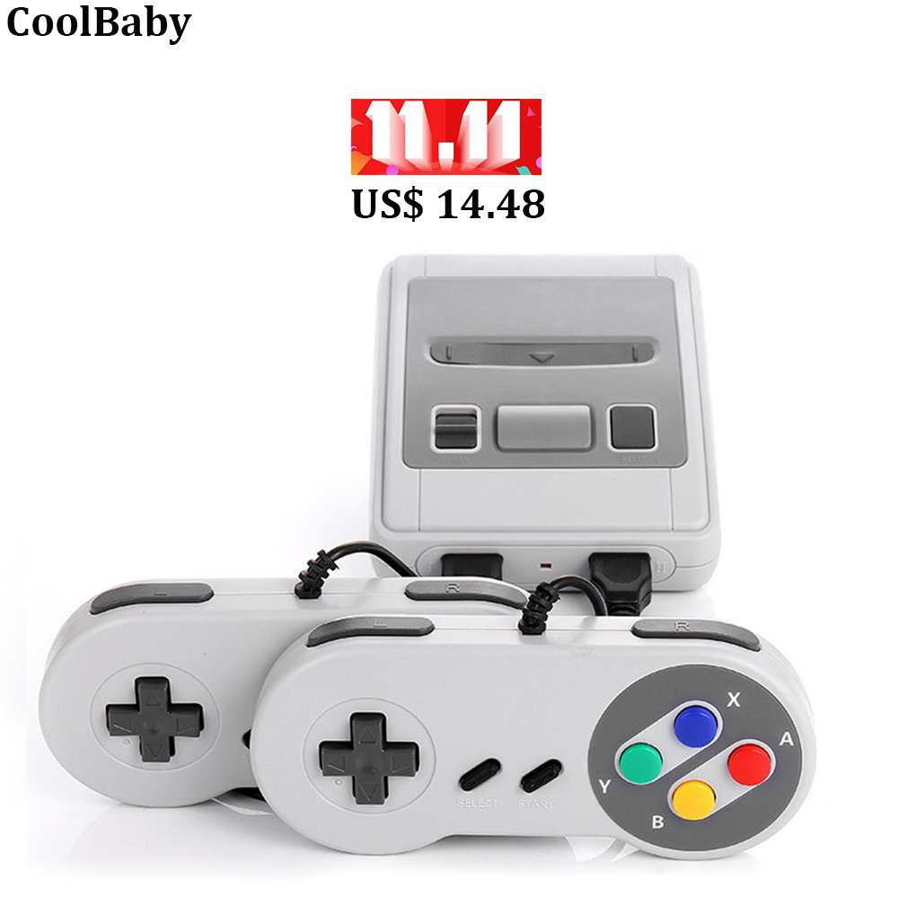 Retro game 620 in 1 handheld game player double handle AV TV output video game console 8bit TV games