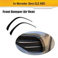 Car Front Bumper Fins Splitters Canards For Mercedes Benz GLE Class Sport 2020 ABS Carbon Fiber Look / Black