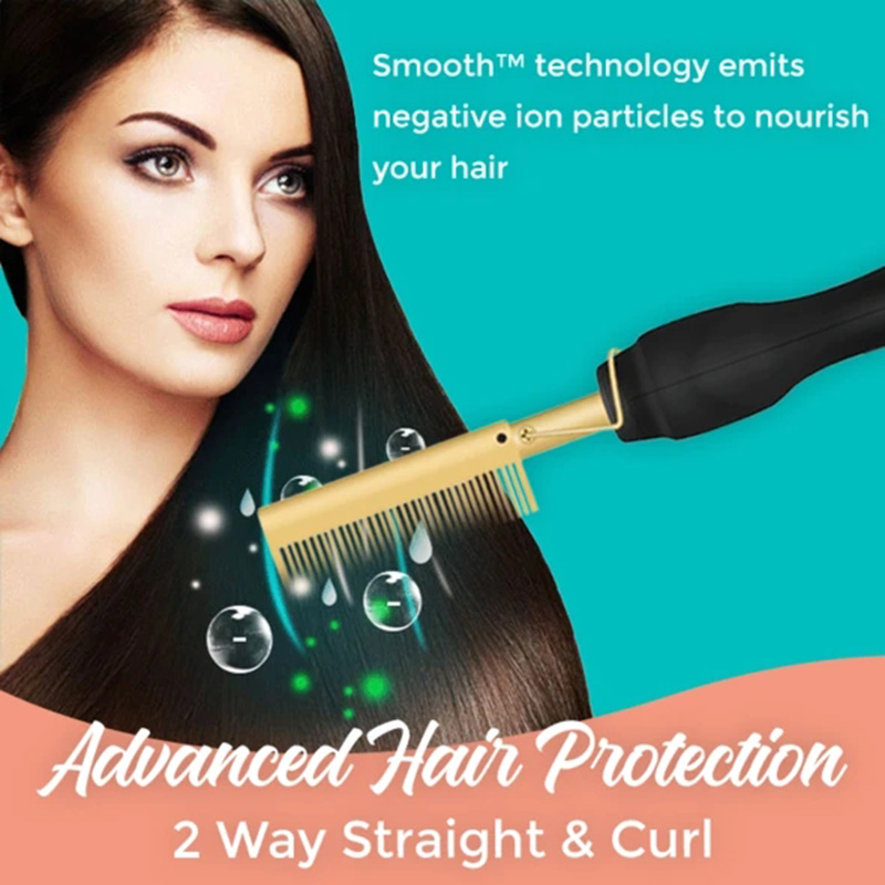 Silky Smooth Hair Styling Comb Electric Hair Straightening Comb for Long-lasting Velvety Smooth Supple Hair Style B99