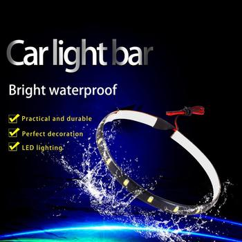 30 cm 15 LEDs Car Auto Motorcycle Daytime Running Light Flexible Soft Tube Guide Car LED Strip Turn signal Waterp image